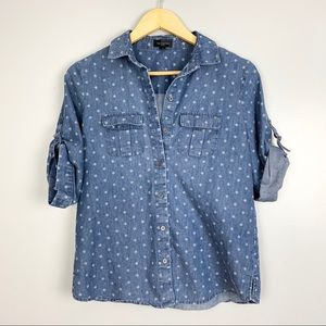 The Limited | Blue Button Down Top | S